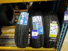 2 x Komet 175/65x14 Tyres and 1 x Sailwin 175/65x1