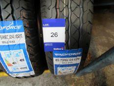 2 x Windforce 185/75x16 8 PR Tyres