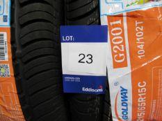 3 x Goldwin 215/65x15 8 PR Tyres