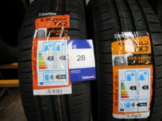 2 x Tracmax 195/65x15x1 Load Tyres