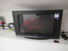 "Samsung 30"" TV with Playstation, Various Controlle"