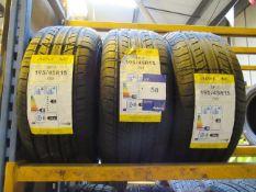 3 x Austone 195/45x16 Tyres