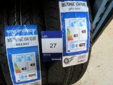 3 x Windforce 185/75x16 8 PR Tyres