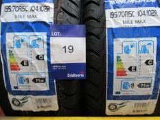 2 x Windforce 195/70x158 PR Tyres