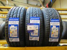 3 x Windforce 195/55x16 Tyres