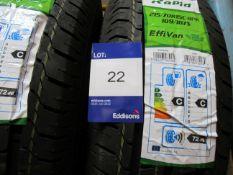 2 x Rapid 215/70x15 8 PR Tyres