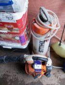Stihl BG 86/C blower, and Stihl 10L pump