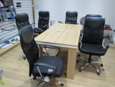 6 Mesh Back Executive Arm Chairs