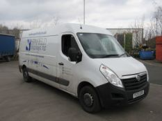 Vauxhall Movano F3500 L3H2 CDTI Panel Van, Diesel, White, Registration: YC15EOB, Date of