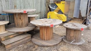 3 Wooden Cable Drums For Rustic Garden Furniture.