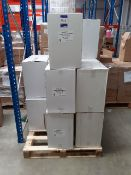 19 x boxes Progena Luxury Embossed white couch roll