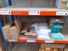 Shelf to contain White Headbands, Sterile Absorbent Gauze etc