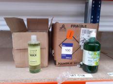 10 bottles of Health life Aloe Vera gel and 7 bottles of tea tree after wax oil