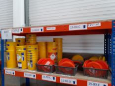 Shelf to contain various sizes Hazardous Waste/Infectious Clinical Waste Buckets