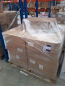 Pallet of Cotton Neck Wool and a box of Leaches Cellulose Wipes