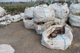 12 x Bags of Red Sand Stone (please note there are