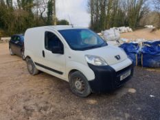 Peugeot Bipper S HDI Panel Van, Registration OY11