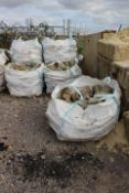 9 x Bags of Green Grey Limestone (please note ther