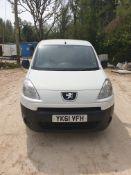 Peugeot Partner HDi SE L1 625 Van, registration YK
