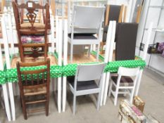 6 x Square Tables and 12 x matching chairs