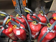 8 x various Fire Extinguishers