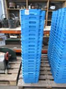 43 x Food Grade Blue Plastic Tubs