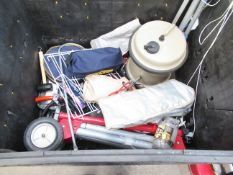 A Stillage of various Camping/Caravaning Equipment etc (stillage not included)