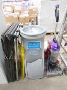 A Hygenius Water Fountain, A Vac Vacuum, Mop, Extendable Ladder, A boards etc