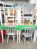 4 x Square Café Tables and 8 none matching chairs