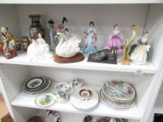 A Selection of various Porcelain Plates & Figures