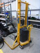 A Warrior Semi-Electric Stacker Pallet Truck 1000Kg max capacity, lifting height 1600mm S/N 01479 YO