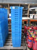 44 x Food Grade Blue Plastic Tubs