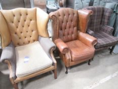 3 x various Wingback Chairs