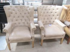 2 x Matching Wingback Chairs