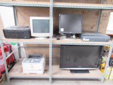 2 x shelves to include TV, Monitor, Printer, CCTV Recorder etc