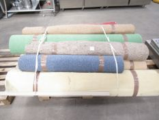 A selection of various carpets