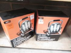 Two compact fluorescent floor lights (boxed)