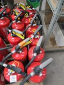 12 x various Fire Extinguishers