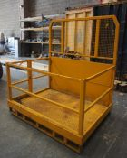 Steel Fabricated Forklift Truck Personnel Cage