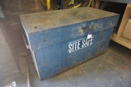 Site Safe Metal Storage Box including contents