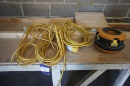 4 x Various Extension Cables 110v