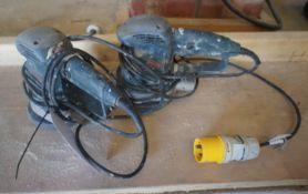 2 x Bosch GEX150AC Electric Sanders, 110v