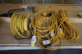3 x Various Extension Cables 110v