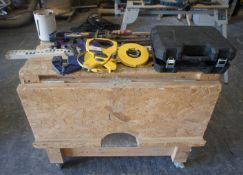 Mobile Workbench with Various Hand Tools, Clamps, Measures etc.