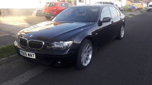 BMW 730Ld SE 4 Door Auto Saloon, colour black, registration YD08 WNT, first registered 21 March