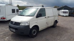 VW Transporter T28 102 TDi SWB Van, registration PE59KYV, V5 document, MOT until 8 December 2020 (