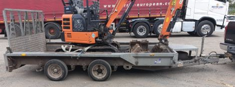 Ifor Williams 3500kg twin axle plant trailer (loca