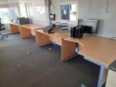 3 x Office Desks and 1 Corner Office Desk