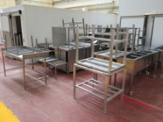 Qty of Stainless Steel & Aluminium Tables, Stands, Benches & Cabinets