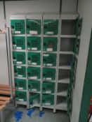 25 x Banks of 6 Lockers with combination locks etc
